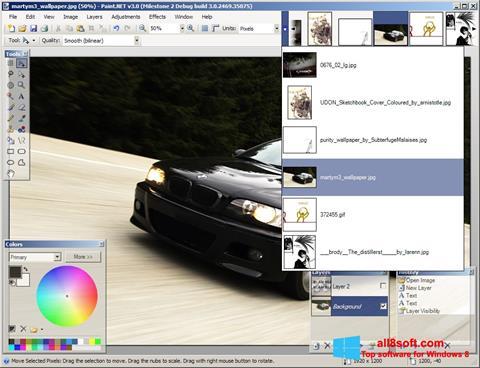 Στιγμιότυπο οθόνης Paint.NET Windows 8