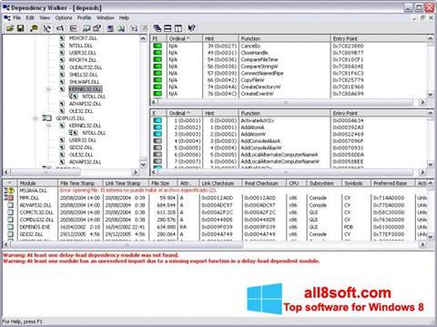 Στιγμιότυπο οθόνης Dependency Walker Windows 8