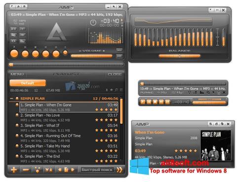 Στιγμιότυπο οθόνης AIMP Windows 8