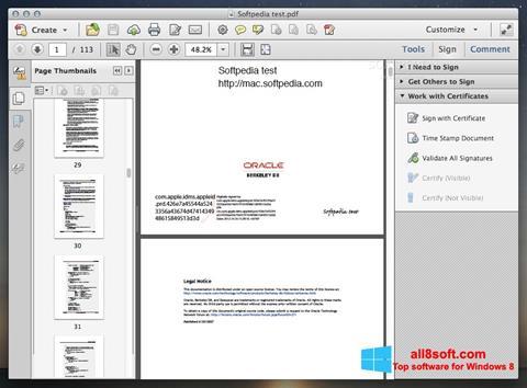 Στιγμιότυπο οθόνης Adobe Acrobat Windows 8