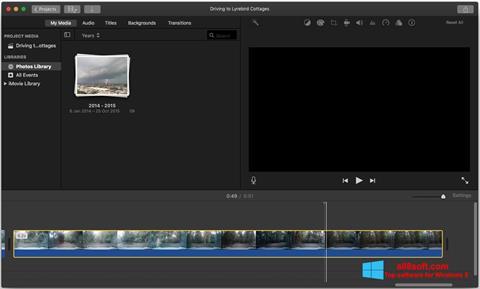 Στιγμιότυπο οθόνης iMovie Windows 8