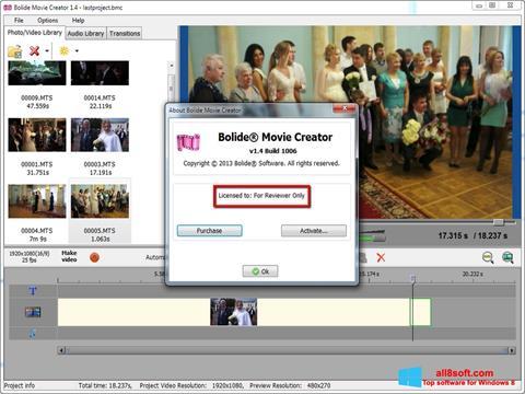 Στιγμιότυπο οθόνης Bolide Movie Creator Windows 8