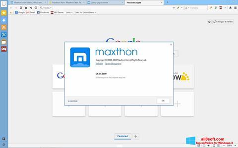 Στιγμιότυπο οθόνης Maxthon Windows 8
