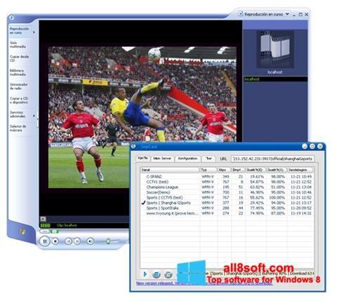 Στιγμιότυπο οθόνης SopCast Windows 8