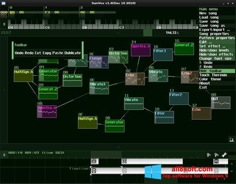 Στιγμιότυπο οθόνης SunVox Windows 8