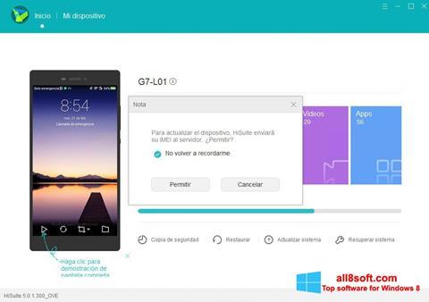 Στιγμιότυπο οθόνης Huawei HiSuite Windows 8