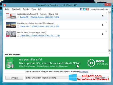 Στιγμιότυπο οθόνης Free YouTube Download Windows 8