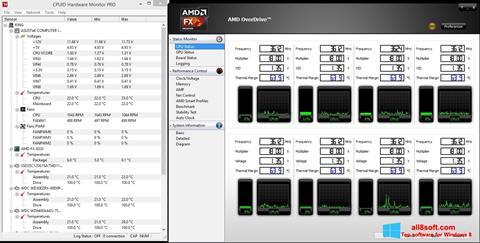 Στιγμιότυπο οθόνης AMD Overdrive Windows 8
