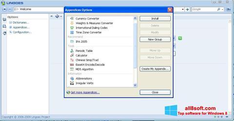 Στιγμιότυπο οθόνης Lingoes Windows 8