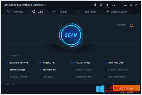 Στιγμιότυπο οθόνης Advanced SystemCare Windows 8