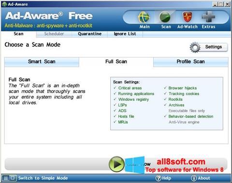 Στιγμιότυπο οθόνης Ad-Aware Free Windows 8