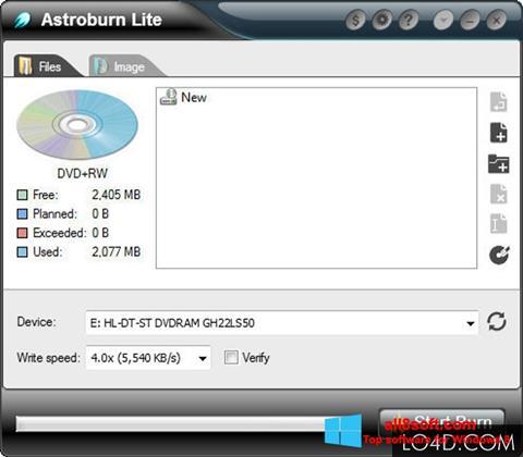 Στιγμιότυπο οθόνης Astroburn Lite Windows 8