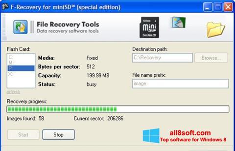 Στιγμιότυπο οθόνης F-Recovery SD Windows 8