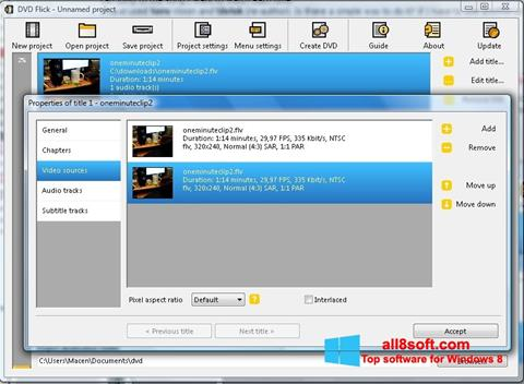 Στιγμιότυπο οθόνης DVD Flick Windows 8