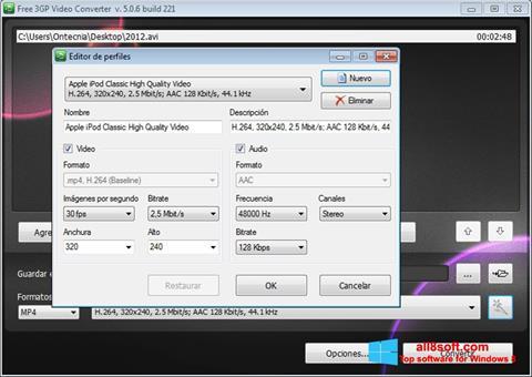 Στιγμιότυπο οθόνης Free MP4 Video Converter Windows 8