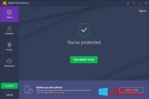 Στιγμιότυπο οθόνης Avast Free Antivirus Windows 8