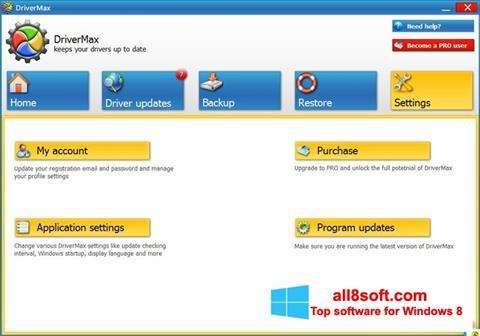 Στιγμιότυπο οθόνης DriverMax Windows 8