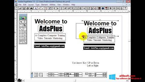 Στιγμιότυπο οθόνης Adobe PageMaker Windows 8