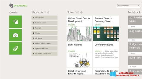 Στιγμιότυπο οθόνης Evernote Windows 8