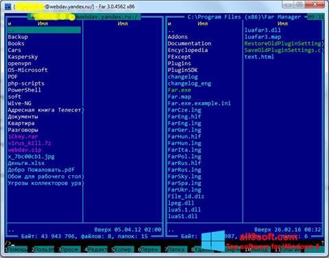Στιγμιότυπο οθόνης Far Manager Windows 8