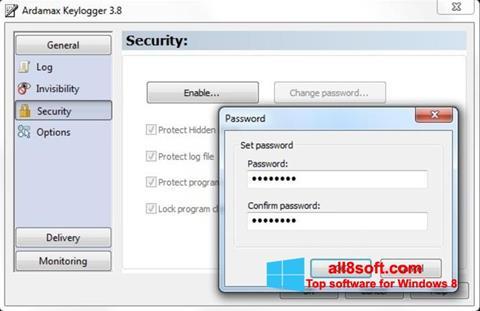 Στιγμιότυπο οθόνης Ardamax Keylogger Windows 8