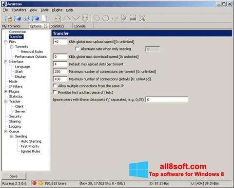 Στιγμιότυπο οθόνης Vuze Windows 8