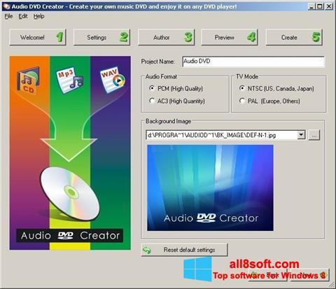 Στιγμιότυπο οθόνης Audio DVD Creator Windows 8