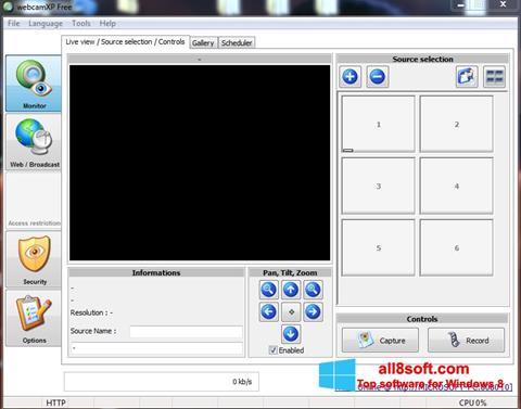 Στιγμιότυπο οθόνης webcamXP Windows 8