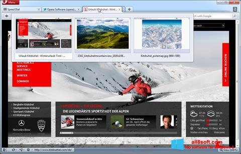 Στιγμιότυπο οθόνης Opera Windows 8