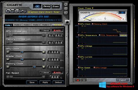 Στιγμιότυπο οθόνης GIGABYTE OC Guru Windows 8