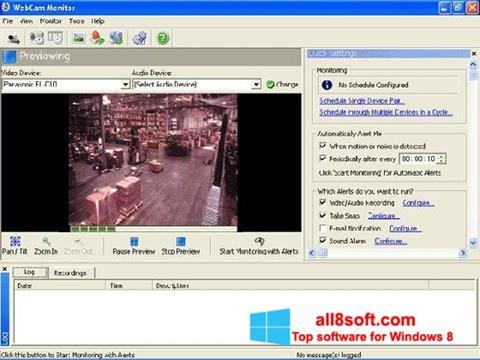 Στιγμιότυπο οθόνης WebCam Monitor Windows 8