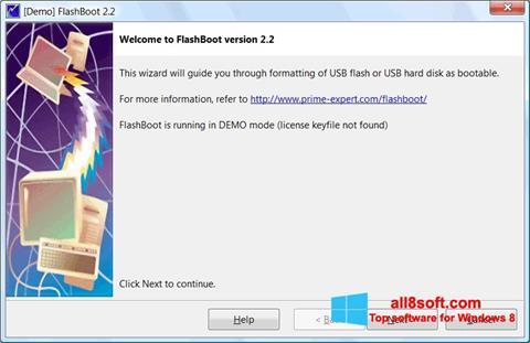 Στιγμιότυπο οθόνης FlashBoot Windows 8