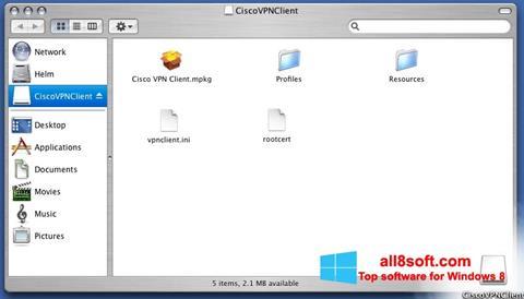 Στιγμιότυπο οθόνης Cisco VPN Client Windows 8