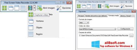 Στιγμιότυπο οθόνης Free Screen Video Recorder Windows 8