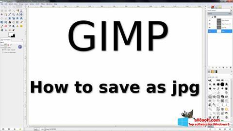 Στιγμιότυπο οθόνης GIMP Windows 8