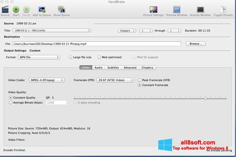 Στιγμιότυπο οθόνης HandBrake Windows 8