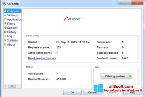 Στιγμιότυπο οθόνης AdFender Windows 8