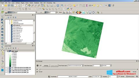 Στιγμιότυπο οθόνης QGIS Windows 8