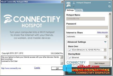 Στιγμιότυπο οθόνης Connectify Pro Windows 8