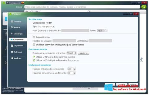 Στιγμιότυπο οθόνης MediaGet Windows 8