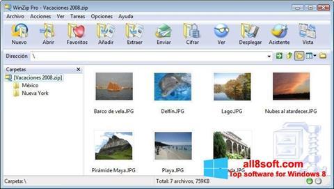 Στιγμιότυπο οθόνης WinZip Windows 8