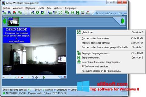 Στιγμιότυπο οθόνης Active WebCam Windows 8