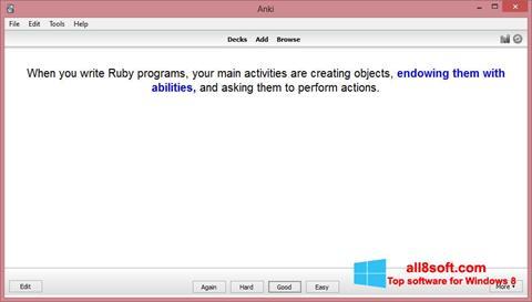 Στιγμιότυπο οθόνης Anki Windows 8