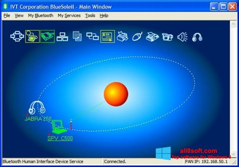 Στιγμιότυπο οθόνης BlueSoleil Windows 8