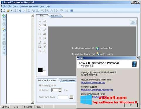 Στιγμιότυπο οθόνης Easy GIF Animator Windows 8