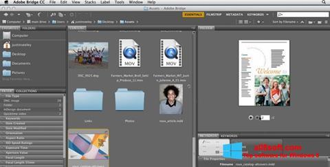Στιγμιότυπο οθόνης Adobe Bridge Windows 8