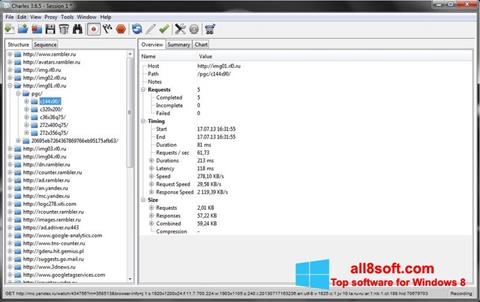 Στιγμιότυπο οθόνης Charles Windows 8