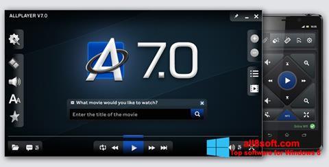 Στιγμιότυπο οθόνης ALLPlayer Windows 8