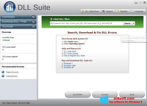 Στιγμιότυπο οθόνης DLL Suite Windows 8