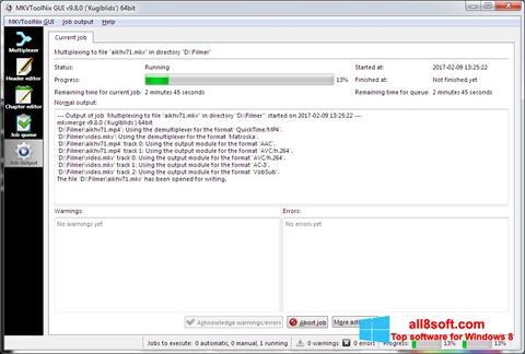 Στιγμιότυπο οθόνης MKVToolnix Windows 8